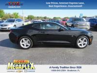 This 2016 Chevrolet Camaro 1LT in Black is well