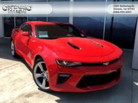 Clean CARFAX. Red 2016 Chevrolet Camaro SS 1SS RWD
