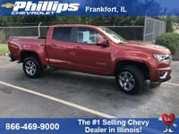 4WD. Red 2016 Chevrolet Colorado Z71 4WD 6-Speed