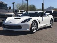 Certified. CARFAX One-Owner. 2016 Chevrolet Corvette