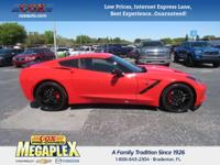 This 2016 Chevrolet Corvette Stingray Z51 in Red is