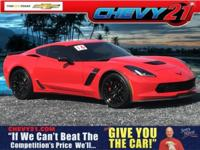 New Price! Torch Red 2016 Chevrolet Corvette Z06 1LZ