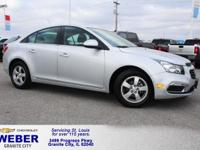 Silver Chevrolet Cruze Limited  Odometer is 4349 miles