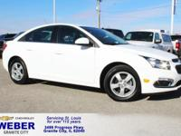 White Chevrolet Cruze Limited  38/26 Highway/City MPG