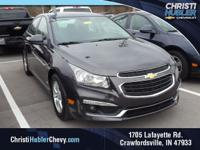Clean CARFAX.  Black 2016 Chevrolet Cruze Limited 1LT