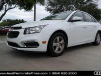 Cruze Limited 1LT, 4D Sedan, Summit White.Audi Pembroke