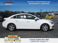 This 2016 Chevrolet Cruze Limited 1LT in White is well