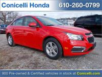 CARFAX ONE OWNER VEHICLE! FUEL EFFICIENT! This Red Hot