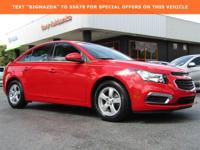 Clean CARFAX.2016 Chevrolet Cruze Limited 1LT ECOTEC