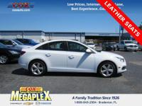 This 2016 Chevrolet Cruze Limited 2LT in White is well