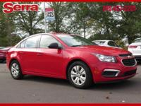 Red 2016 Chevrolet Cruze Limited LS FWD 6-Speed