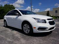 White 2016 Chevrolet Cruze Limited LS FWD 6-Speed
