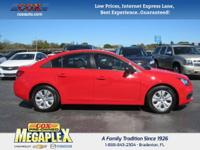 This 2016 Chevrolet Cruze Limited LS in Red is well