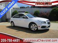 This 2016 Chevrolet Cruze Limited LS in White features: