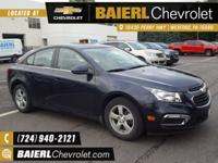 Certified. CARFAX One-Owner. 2016 Chevrolet Cruze
