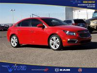 Clean CARFAX. Red 2016 Chevrolet Cruze Limited LTZ FWD