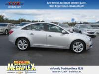 This 2016 Chevrolet Cruze Limited LTZ in Silver Ice