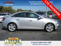 This 2016 Chevrolet Cruze Limited LTZ in Silver is well