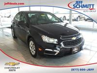 Certified. Black Granite Metallic 2016 Chevrolet Cruze