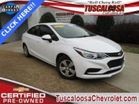 GM Certified. This 2016 Chevrolet Cruze LS in Summit