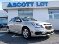 2016 Chevrolet Cruze Limited LT SEDAN. Certified. Clean