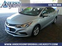 New Price! Silver Ice Metallic 2016 Chevrolet Cruze LT