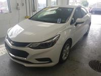 This 2016 Chevrolet Cruze LT in Summit White features:
