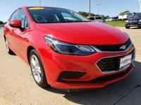 Red Hot 2016 Chevrolet Cruze LT FWD 6-Speed Automatic