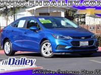 Options:  2016 Chevrolet Cruze Lt Blue 16 Aluminum