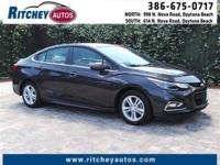 CERTIFIED PRE-OWNED 2016 CHEVY CRUZE LT**LOW