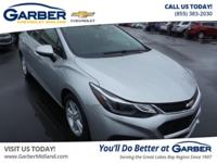 New Price! ONE OWNER CARFAX, Bluetooth for Phone, Cruze