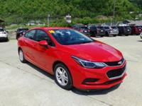 Red 2016 Chevrolet Cruze LT FWD 6-Speed Automatic 1.4L