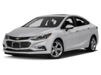 PRIOR RENTAL. Cruze Premier, GM Certified, 4D Sedan,