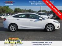This 2016 Chevrolet Cruze Premier in White is well