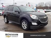 2016 EQUINOX LT with Low Miles and One Owner Clean