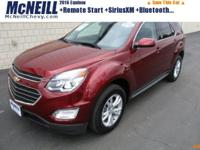 This 2016 Chevrolet Equinox LT in Siren Red Tintcoat
