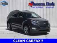 2016 CHEVROLET EQUINOX LT, ONE OWNER, CLEAN CARFAX