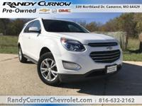 Options:  2016 Chevrolet Equinox Lt|Summit White|Light
