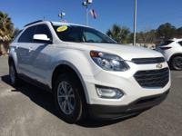 Certified. White 2016 Chevrolet Equinox LT FWD 6-Speed