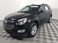 Certified. This 2016 Chevrolet Equinox in Mosaic Black