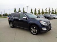 This 2016 Chevrolet Equinox LTZ, has a great Blue