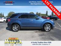 This 2016 Chevrolet Equinox LTZ in Blue Velvet Metallic