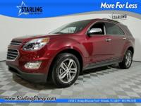 Equinox LTZ, 4D Sport Utility, Siren Red Tintcoat, and