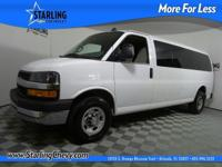 Extended Passenger Van and White. Won't last long!