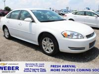 Recent Arrival! Summit White Chevrolet Impala Limited