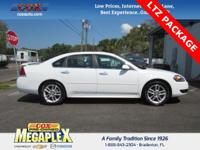 This 2016 Chevrolet Impala Limited LTZ in White is well