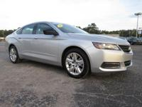 Certified. Silver 2016 Chevrolet Impala LS 1FL FWD