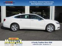 This 2016 Chevrolet Impala LS in White is well equipped