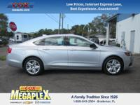 This 2016 Chevrolet Impala LS in Silver is well