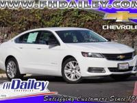 Options:  2016 Chevrolet Impala Ls|White|Wheels: 18